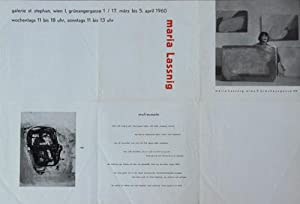 Malrezepte. Plakat.: Lassnig, Maria, Malerin, 1919-2014.