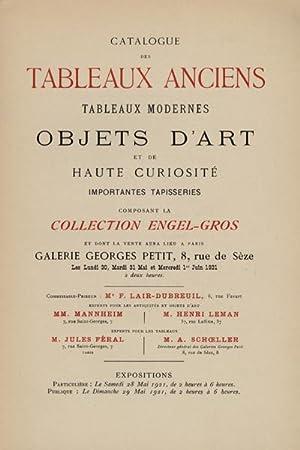 Catalogue des tableaux anciens - tableaux modernes - objets d'art et de haute curiosité...