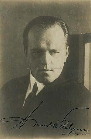 Eigenh. Signatur auf Portraitphotographie von Friedrich Victor Spitzer (1854-1922). Postkarte Br&...