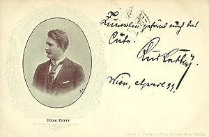 Bildpostkarte (Brustbild) mit eigenh. Signatur. Wien April 1899: Retty, Rudolf, Schauspieler (1845-...