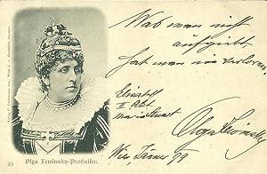 Bildpostkarte (Brustbild als Elisabeth) mit eigenh. Signatur und Zitat. Wien Jänner 1899 &quot...