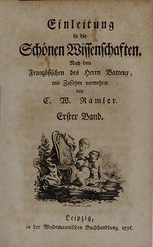 Einleitung in die Schönen Wissenschaften. Nach dem Französischen des Herrn (Charles) ...