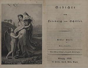 Gedichte. Erster (und) Zweiter Theil in 1 Band.: Schiller, Friedrich von.