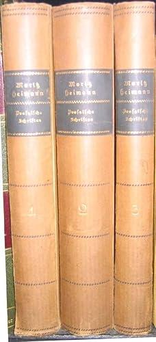Prosaische Schriften in drei Bänden.: Heimann, Moritz.