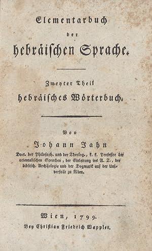 Hebräisches Wörterbuch.: Hebräisch - Jahn, Johann.