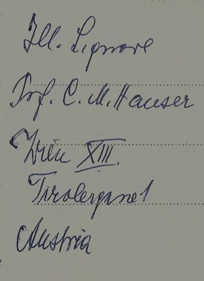 Eigenh. Ansichtspostkarte m.U. Franz Theodor. Rom 30.3.1961.: Csokor, Franz Theodor, Schriftsteller...