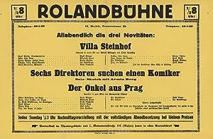 Die Rolandbühne (Emil Richter-Roland) II Praterstraße 25 (Plakat). [Das Theater der ...