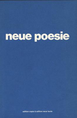 neue poesie. bielefelder colloquium. eine anthologie 1980.
