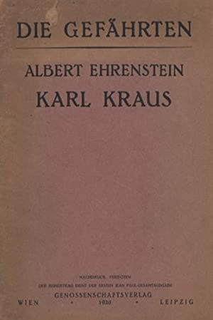 Karl Kraus.: Ehrenstein, Albert.