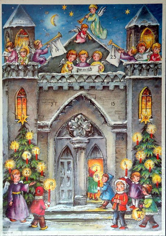 Adventskalender aus den 50er Jahren, ungebraucht #: Adventskalender: