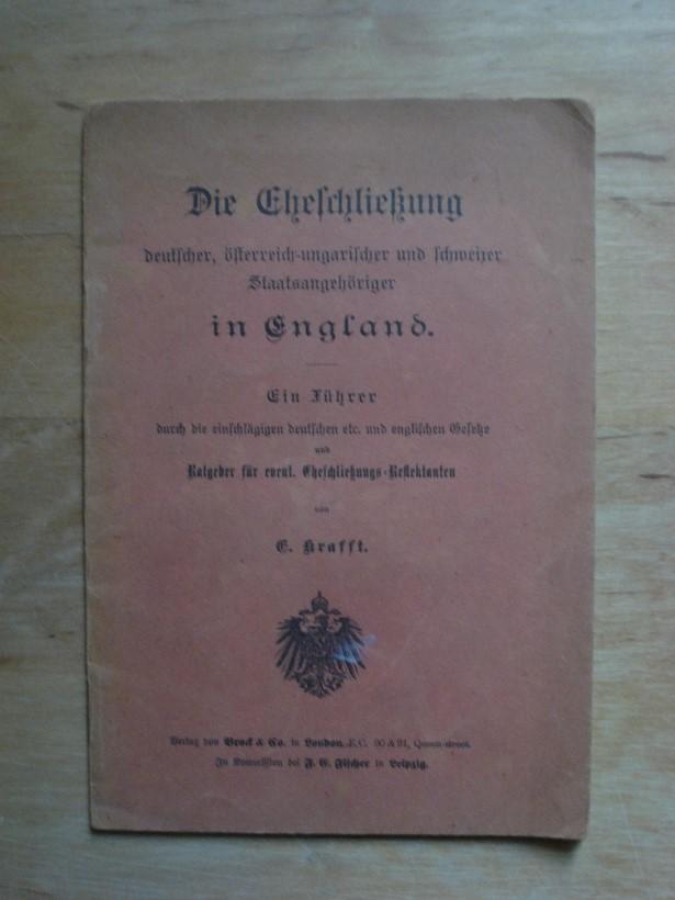 Die Eheschließung Deutscher österreichische Ungarischer Und