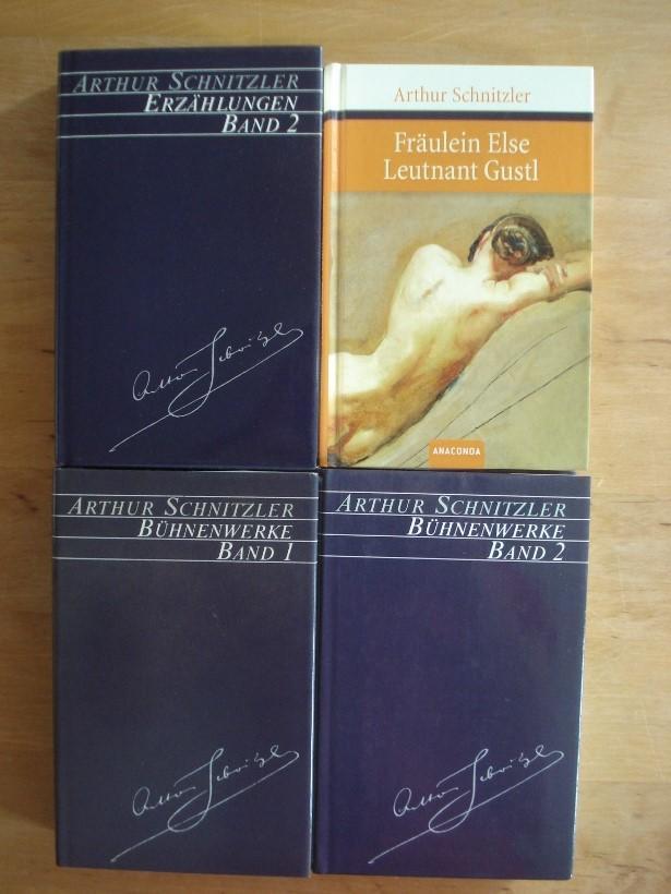 3 Bände in gleicher Ausstattung + Fräulein: Schnitzler, Arthur