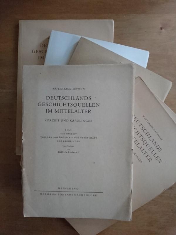 Deutschlands Geschichtsquellen im Mittelalter - Vorzeit und: Wattenbach, Wilhelm /