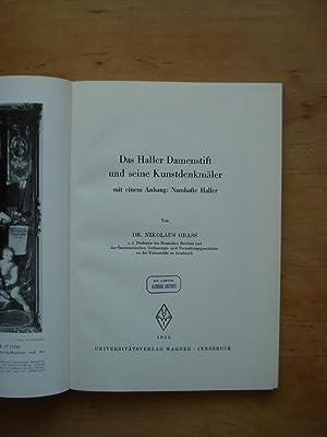 Das Haller Damenstift und seine Kunstdenkmäler mit einem Anhang: Namhafte Haller: Grass, Dr. ...