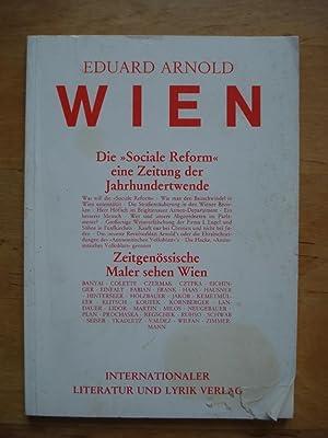"""Wien: Die """"sociale Reform"""", eine Zeitung der: Arnold, Eduard"""