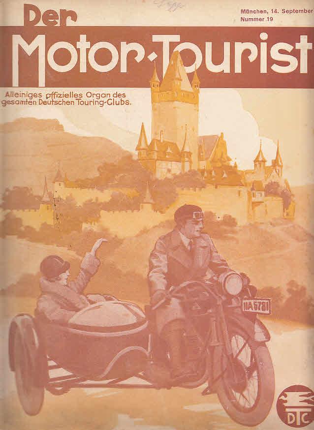 Der Motor-Tourist, Nr. 19. 1929, 39. Jahrgang: Gesamter Deutscher Touring-Club: