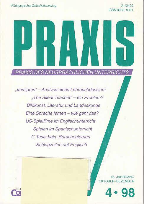 Praxis des neusprachlichen Unterrichts, 45. Jahrgang, Heft 4 1998 ...
