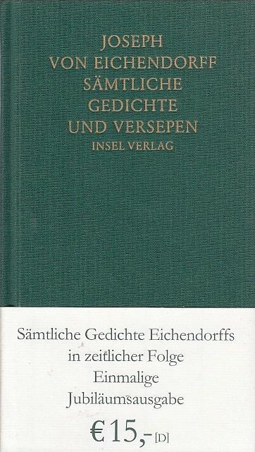 Sämtliche Gedichte Und Versepen Joseph Von Eichendorff