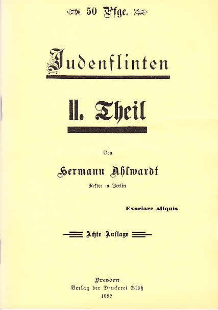 Judenflinten. 2. Theil. Reprint der 8. Auflage: Ahlwardt, Hermann: