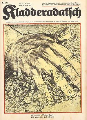 Kladderadatsch, 86. Jahrg., Heft 3 1933: Max Brinkmann und Arthur Johnson: