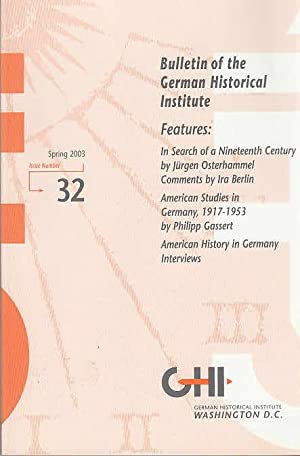 Bulletin of the German Historical Institute, Nr.: German Historical Institute: