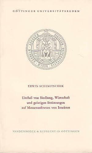 Einfluss von Siedlung, Wirtschaft und geistigen Strömungen: Schimitschek, Erwin: