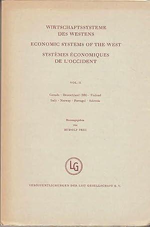 Wirtschaftssysteme des Westens = Economic systems of: Frei, Rudolf: