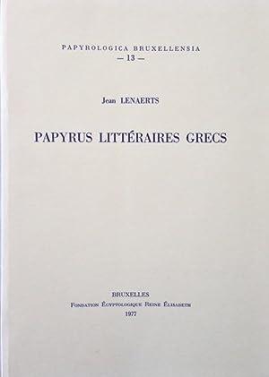 Papyrus Littéraires Grecs / Jean Lenaerts Papyrologica: Lenaerts, Jean: