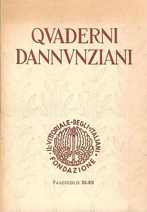 Quaderni dannunziani. Fascicolo XII-XIII, 1958 Fondazione Il: Mariano, Emilio: