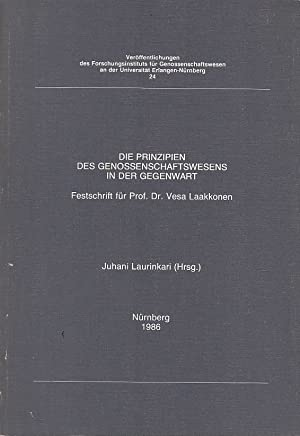 Die Prinzipien des Genossenschaftswesens in der Gegenwart: Laurinkari, Juhani (Hrsg.)