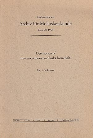 Description of new non-marine mollusks from Asia / by Rolf A. M. Brandt; Senckenbergische Naturfo...