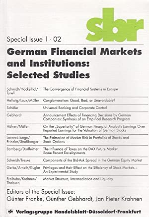 German financial markets and institutions : selected studies ed. Schmalenbach-Gesellschaft ; Schm...