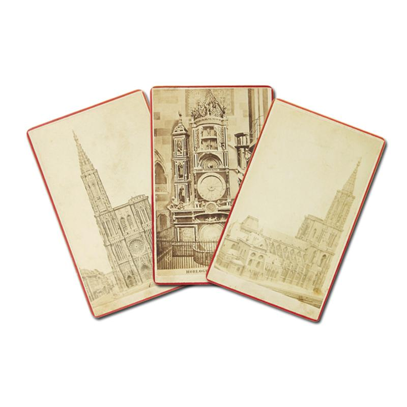 Konvolut Mit 3 Original Albumin Photographien Im Carte De Visite Format