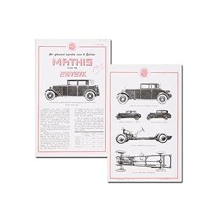 Der glänzend erprobte neue 6 Zylinder Mathis: Mathis Automobile (Hrsg.)