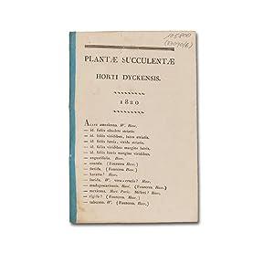 Plantae succulentae horti Dyckensis. 1820.: Salm-Reifferscheid-Dyck, Joseph von).