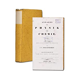 Hrsg. J. C. Poggendorff. Ergänzungsband 3.: Annalen der Physik