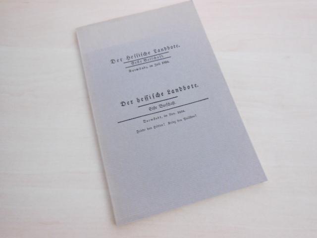 Der Hessische Landbote. 1834.: Büchner, Georg -