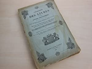 Catalogue des livres de la Bibliotheque de: Auktionskatalog. - Roovere,