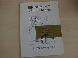 Monumenta Guerickiana. Heft 7. Zeitschrift der Otto-von-Guericke-Gesellschaft: Guericke, O. v.