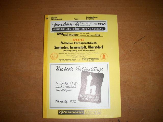 Sonthofen örtliches Fernsprechbuch