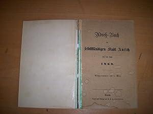 Aurich, Adressbuch der selbstständingen Stadt Aurich für das Jahr 1869, enthält u.a. ein ...