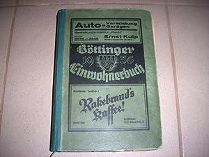 Göttingen, Göttinger Einwohnerbuch 1936 und Einwohner-Verzeichnis des Landkreise Göttingen. Enthält...