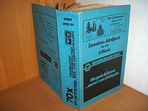 Erftkreis, Einwohner-Adressbuch für den Erftkreis, Ausgabe 1979. Enthält die Städte Bergheim, ...