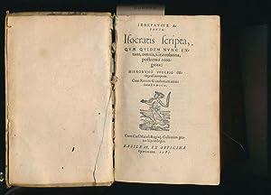 Isocratis Scripta quae quidem nunc extant omnia: Isocrates