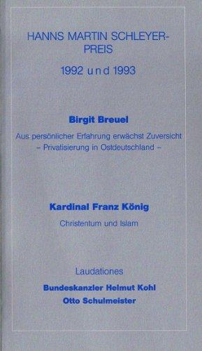 Hans Martin Schleyer- Preis 1992 und 1993 - Eberspächer, Helmut, Helmut Kohl und Erwin Teufel