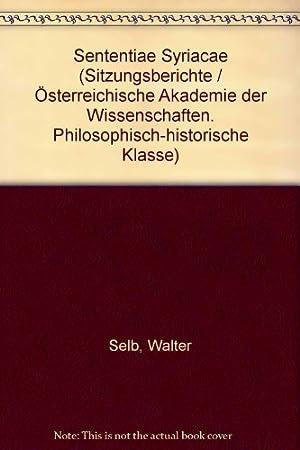 Sententiae Syriacae: Selb, Walter: