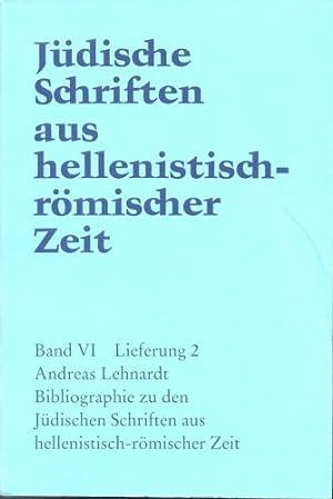 Jüdische Schriften aus hellenistisch-römischer Zeit, Bd 6: Supplementa: Bibliographie zu ...