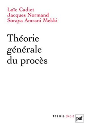 Théorie générale du procès: Cadiet, Loà c, Jacques Normand und Mekki ...