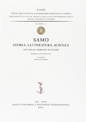 Samo. Storia, letteratura, scienza. Atti delle Giornate di studio (Ravenna, 14-16 novembre 2002) (...