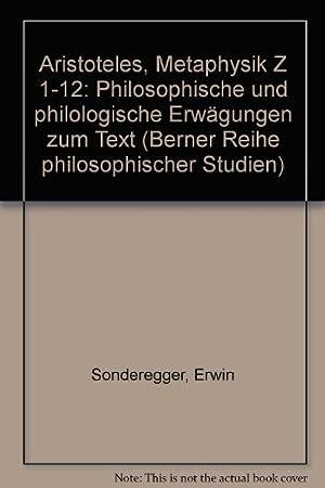 Aristoteles, Metaphysik Z 1-12: Sonderegger, Erwin: